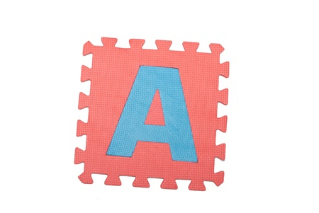 Letter a  tile isolated white background for children photo