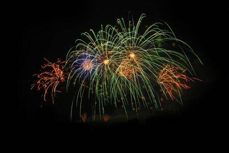 beautiful fireworks at chiangmai thailand new year 2011 celebration photo