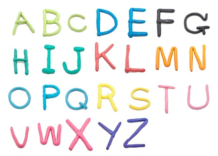color clay font a to z hand writing style photo