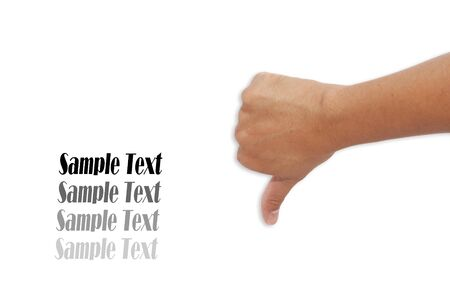 Asian Human Hand Differrent figures isolated white background photo