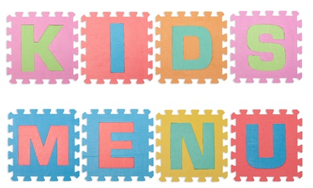 for children toys: wording for kid isolated white background