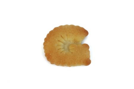 cracker font isolated on white background photo