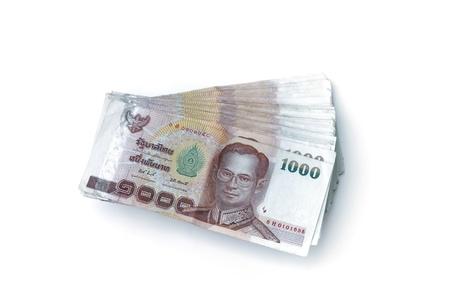 Bat banknotów samodzielnie na białym tle Zdjęcie Seryjne