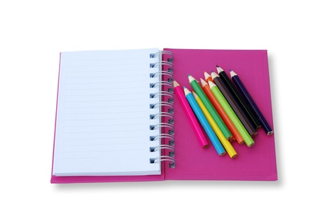 blank notebook isolated on thite background Stock Photo - 9421291