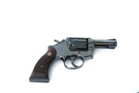 black gun isolated on thite background Stock Photo - 9421235