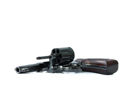 black gun isolated on thite background Stock Photo - 9421230