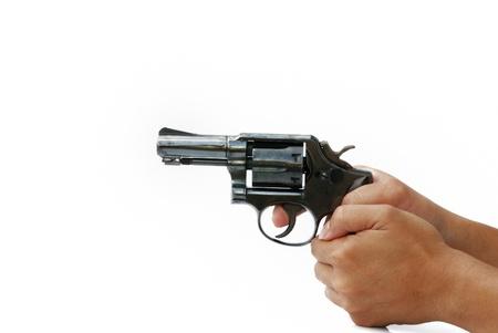 shooting gun isolated on thite background Stock Photo - 9421254
