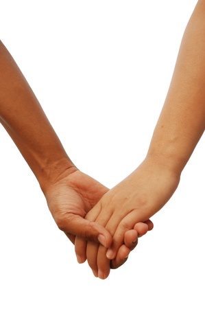 Sign of love with two lover hands together Stock Photo - 9421287