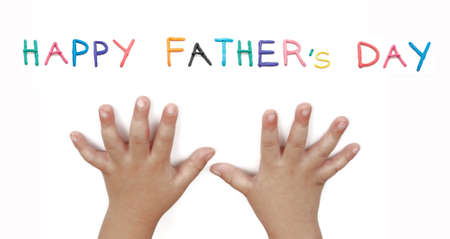 art work of happy father's day isolated on white background Stock Photo - 9632922