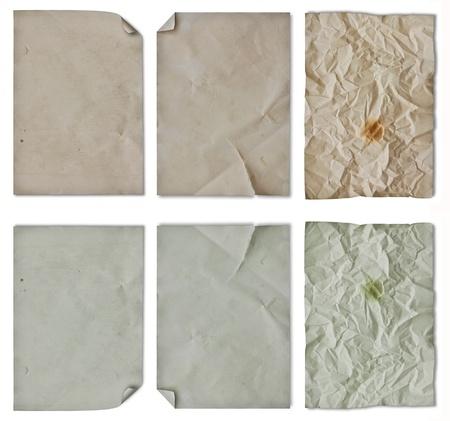 blank vintage paper detail Stock Photo