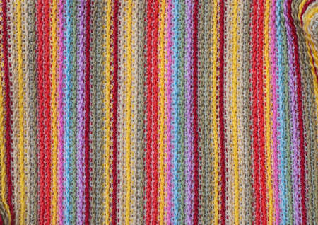 close up of colorful fibers texture photo