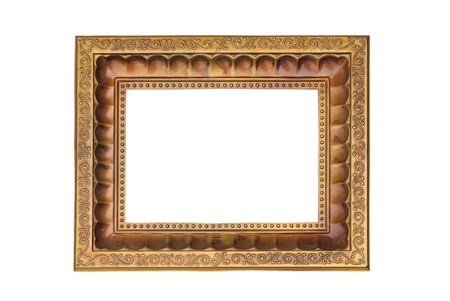 old blank photo frame isolated on white background photo