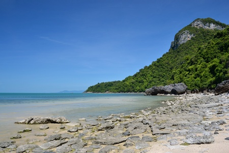 landscape bird eye view of angthong national marine park ko samui photo