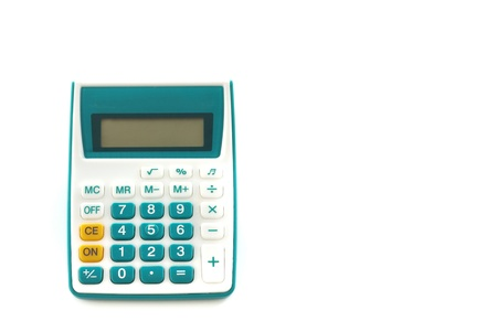 green button calculator ioslated on white background Stock Photo - 9787884