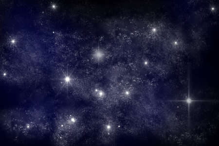 art work of galaxy on dark blue background photo