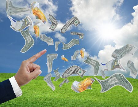 art work of business concepts make money from technology photo