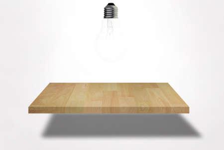 single blank shelf on bright wall Stock Photo - 9919996