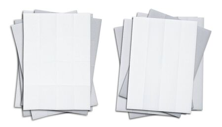 set of stack blank white papers isolated on white background Stock Photo - 9921444