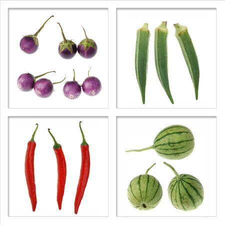 raw vegetable isolated on white background photo