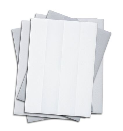 white sheet: stack of blank white paper isolated on white background