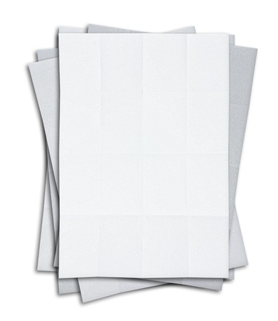stack of blank white paper isolated on white background photo
