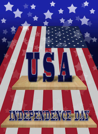 art work of the memory USA independence day photo