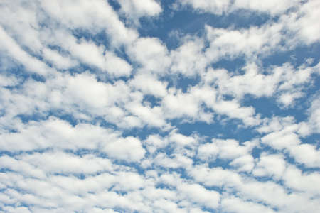 heave: strange form of clouds in sunny day