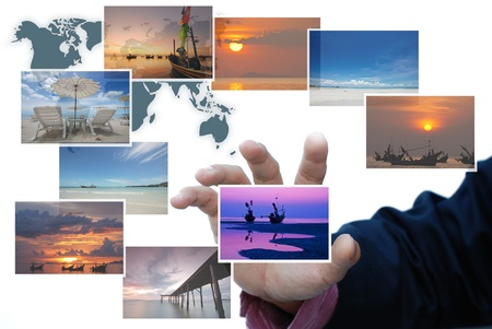 art work of travel business from landscape picture Stock Photo - 9921381