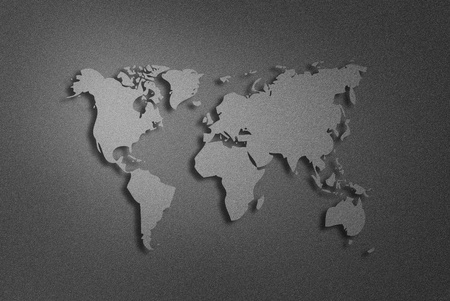 metalic: art work of world map from metalic background Stock Photo
