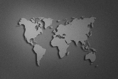 metalic: Kunstwerk der Weltkarte aus metallisch Hintergrund Lizenzfreie Bilder