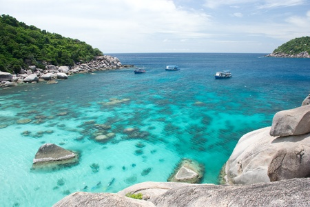 landscape of nangyuan island of the clear ocean, clear sky , and activity. Stock Photo - 9922041