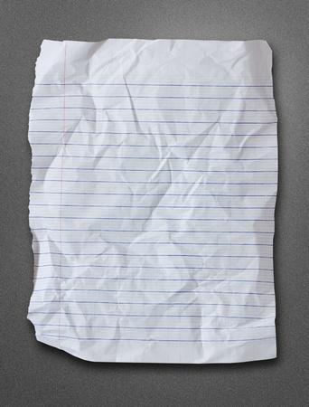 blank white paper on metalic background Stock Photo - 9953434