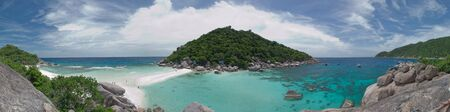 Panorama of nangyuan island of the clear ocean, clear sky , and activity. Stock Photo - 10035049