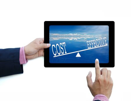 business word in tablet computer on white back ground Stock Photo - 10034899