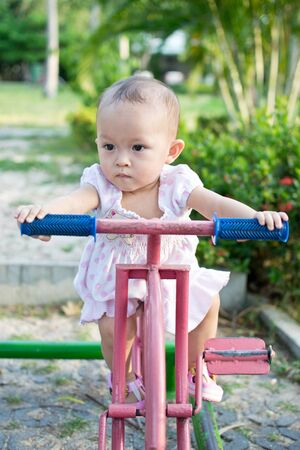 activity of cute young asian kid in the playground Stock Photo - 10114240