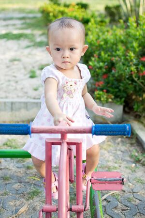 activity of cute young asian kid in the playground Stock Photo - 10058575