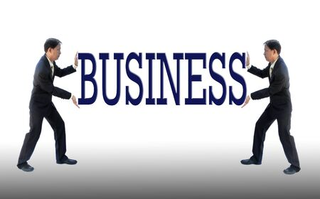 Art work of business idea with businessman with wording. Stock Photo - 10065600