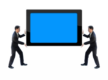 businessman holdding tablet computer for general business use. Stock Photo - 10058554