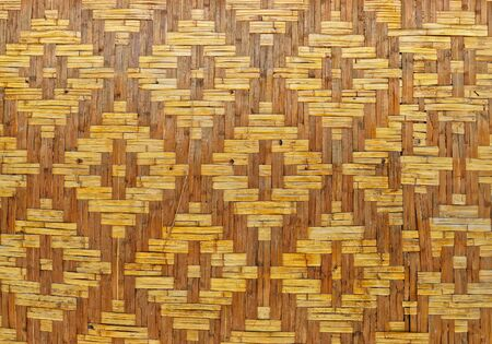background from bamboo wood classic style  of thai house. Stock Photo - 10058451