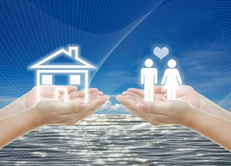 idea artwork for HOME building ,planning, family concepts . photo