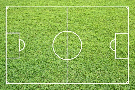 soccer field form green grass texture. photo