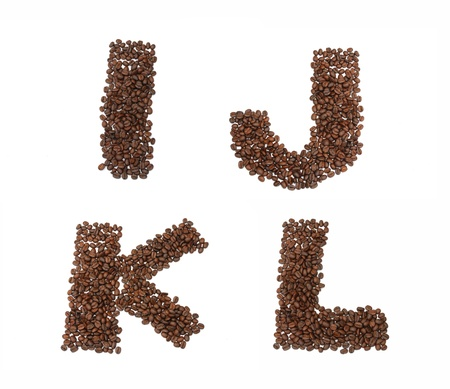 stimulated: close up of coffee seed in font and pattern.