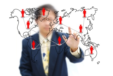 Attractive artwork for business from asian businessman selection. Stock Photo - 10557054