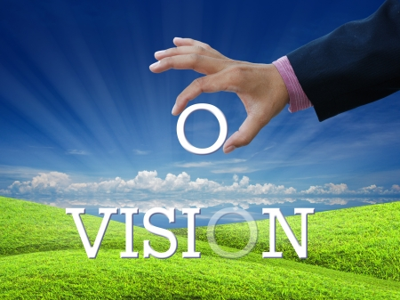 An attractive artwork for vision on nature background. Stock Photo