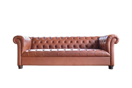 antique chair: single vintage style sofa isolated on white background.