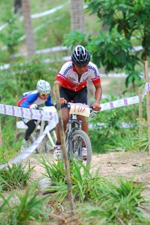 KO SAMUI, THAILAND - SEPTEMBER 11: Samui MTB XC 2011 at ko samui city on September 11,2011 in Ko Samui island, Thailand. The first of mountain bike race in ko samui city suratthaini province thailand. Stock Photo - 10650665