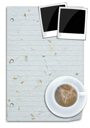 crinkles: one grain line paper for background use. Stock Photo