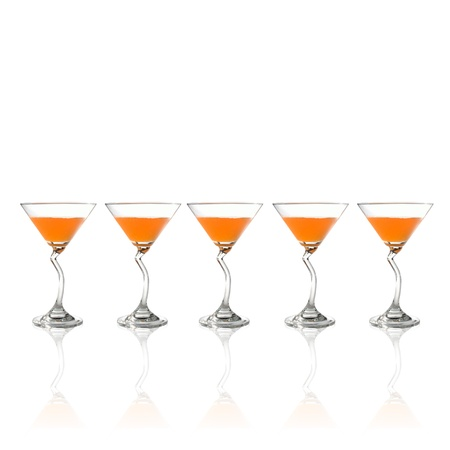 Attractive set of glasses  on white background. photo