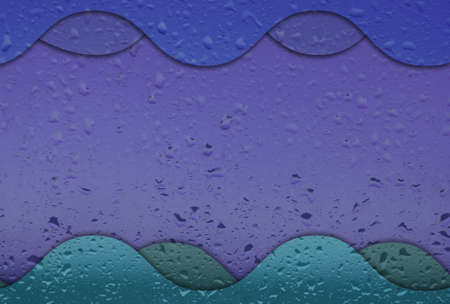 attractive background from drop on colorful glass. photo