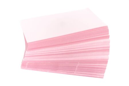 stack of paper on the white background. Stock Photo - 10751151